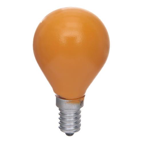 Lampada a sfera E14 25W Giallo 1