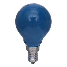 Sphere lamp E14 25W blue s1