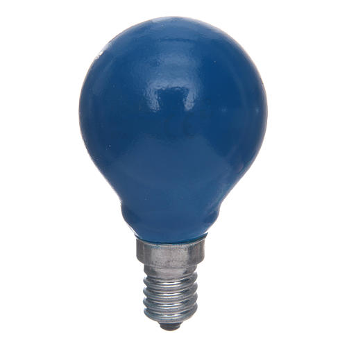 Lampada a sfera E14 25W Blu 1