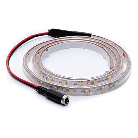 Striscia Led bianco caldo 1 m 30 led con connettore s3