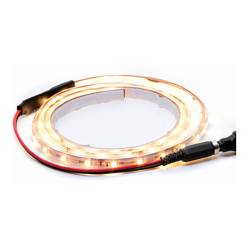 Striscia Led bianco caldo 1 m 30 led con connettore 1