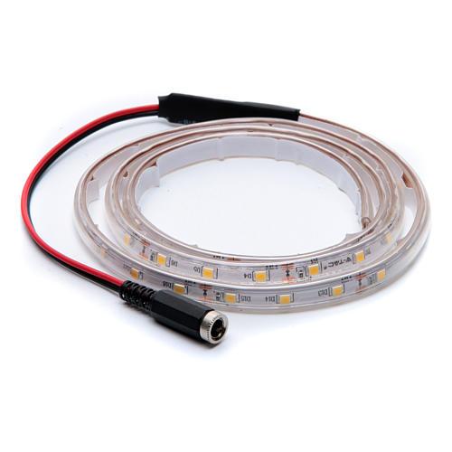 Striscia Led bianco caldo 1 m 30 led con connettore 3