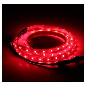 Striscia Led rosso 1 m 30 led con connettore s2