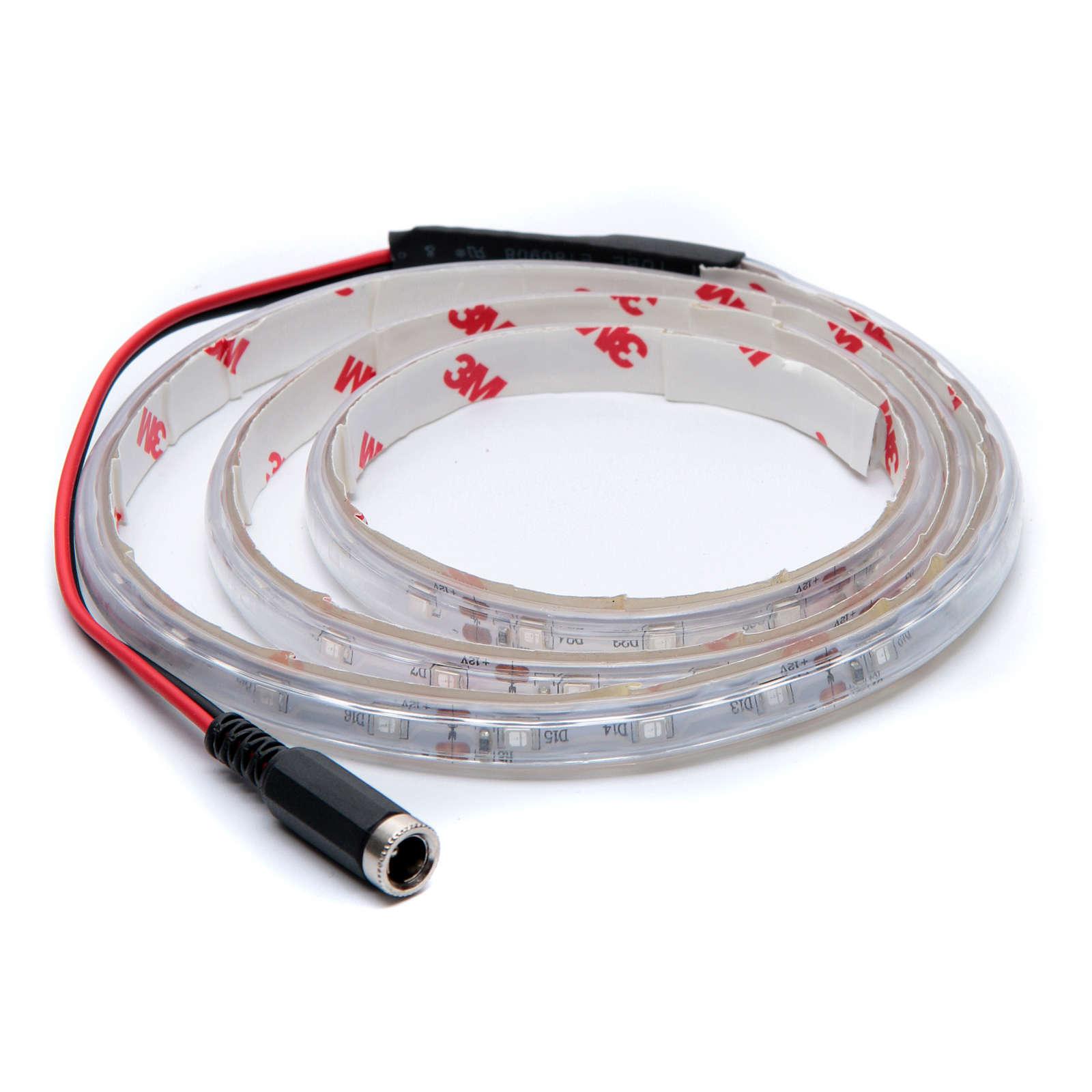 Striscia Led blu 1 m 30 led con connettore 4