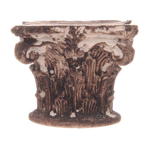 Capitel corintio 5x5x5 cm 2