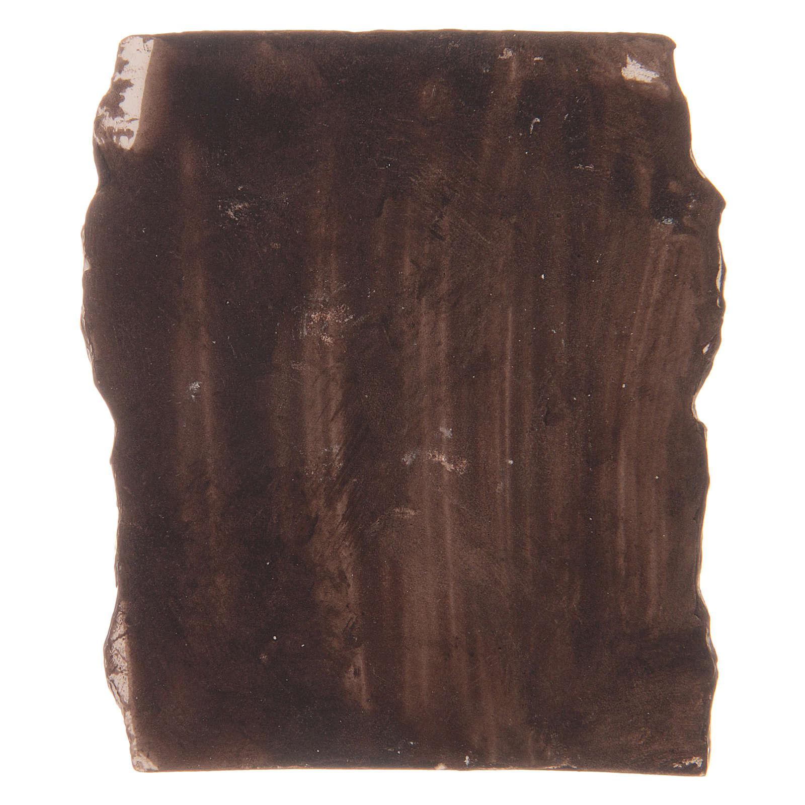 Pared antigua de resina 5x5x1,5 cm 4