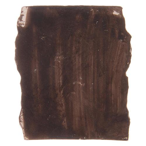Pared antigua de resina 5x5x1,5 cm 2