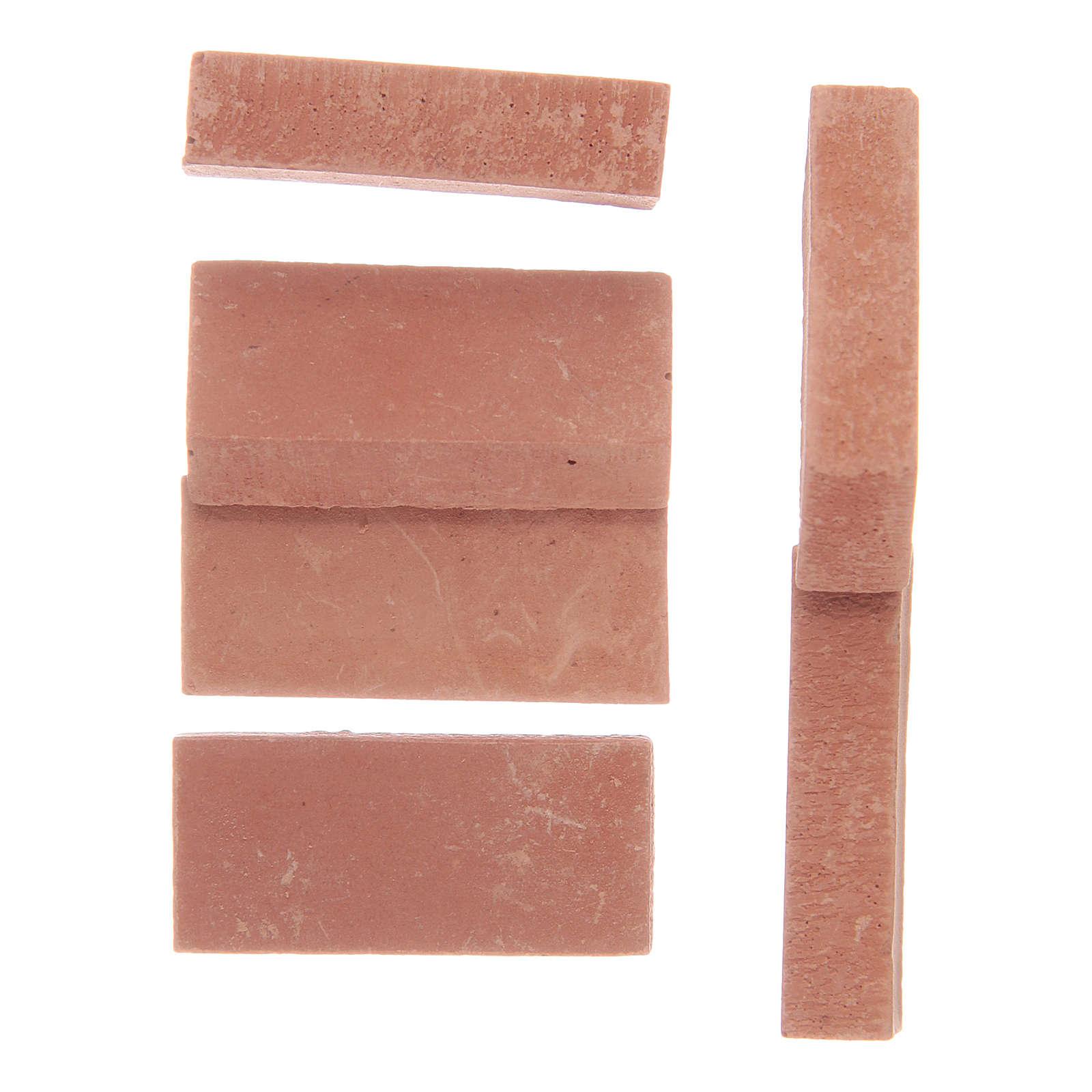Briques en résine couleur terre cuite 12 pcs 4