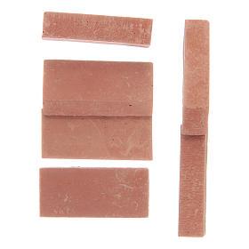 Briques en résine couleur terre cuite 12 pcs s2