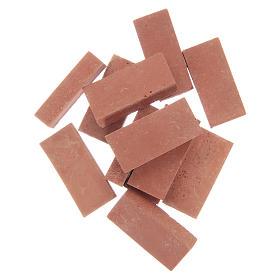 Acessórios de Casa para Presépio: Tijolos em resina cor terracota 12 peças