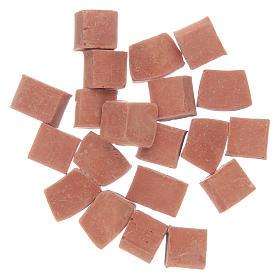 Acessórios de Casa para Presépio: Tijolos cor terracota em resina 20 peças