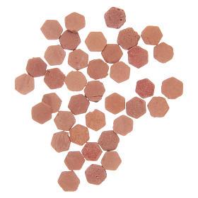 Resin hexagonal tiles terracotta colour 100 pieces s2