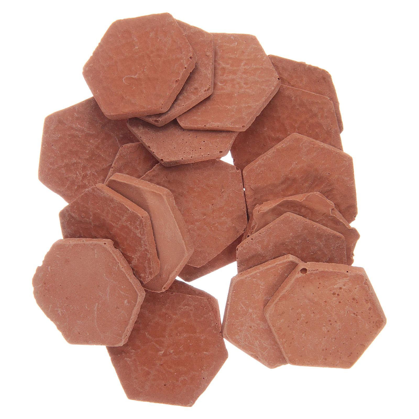 Resin hexagonal terracotta colour tiles 20 pieces 4