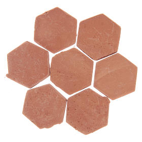 Resin hexagonal terracotta colour tiles 20 pieces s2