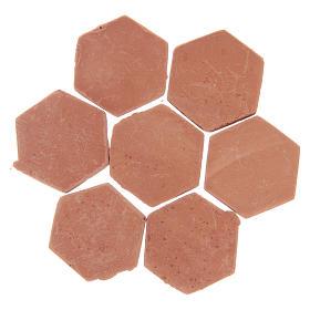Baldosas de resina hexagonales color terracota 20 piezas s2