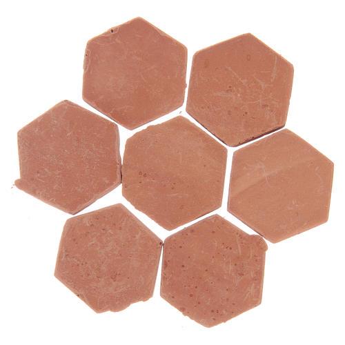 Piastrelle in resina esagonali colorazione terracotta 20 pz 2