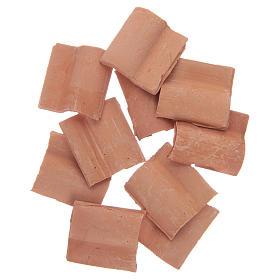 Teja romana resina color terracota 10 piezas s1