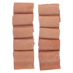 Teja romana resina color terracota 10 piezas s2
