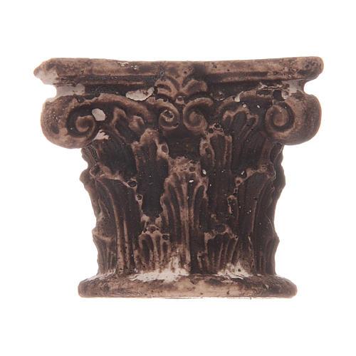 Semi capitel Corintio de resina 1