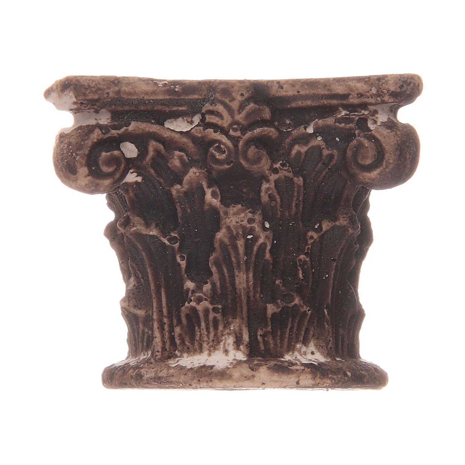 Meio capitel coríntio em resina 4
