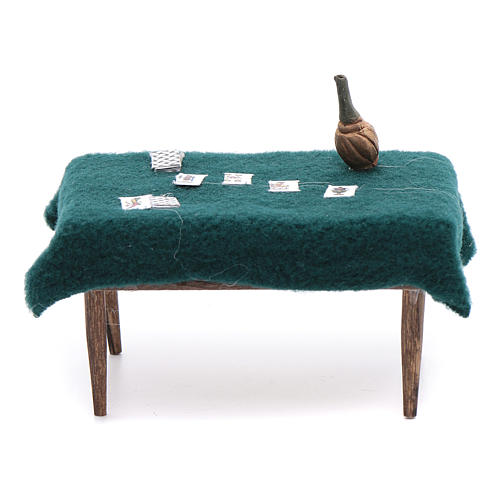 Cards table 5x10x5 cm, neapolitan Nativity Scene 1