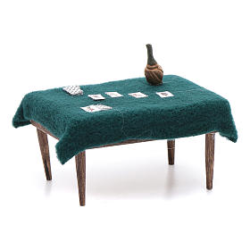 Tavolo carte presepe napoletano 5x10x5 cm s3