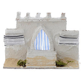 Home accessories miniatures: Arabian wall with curtains assorted colours 15x5x10 cm