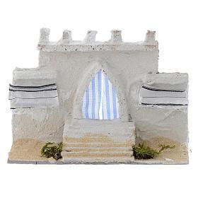 Acessórios de Casa para Presépio: Parede árabe com cortinas cores várias 15x5x10 cm