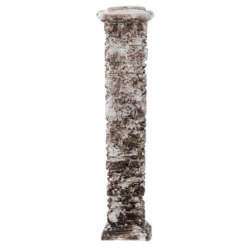 Resin column with ancient stones 15x5x5 cm 1
