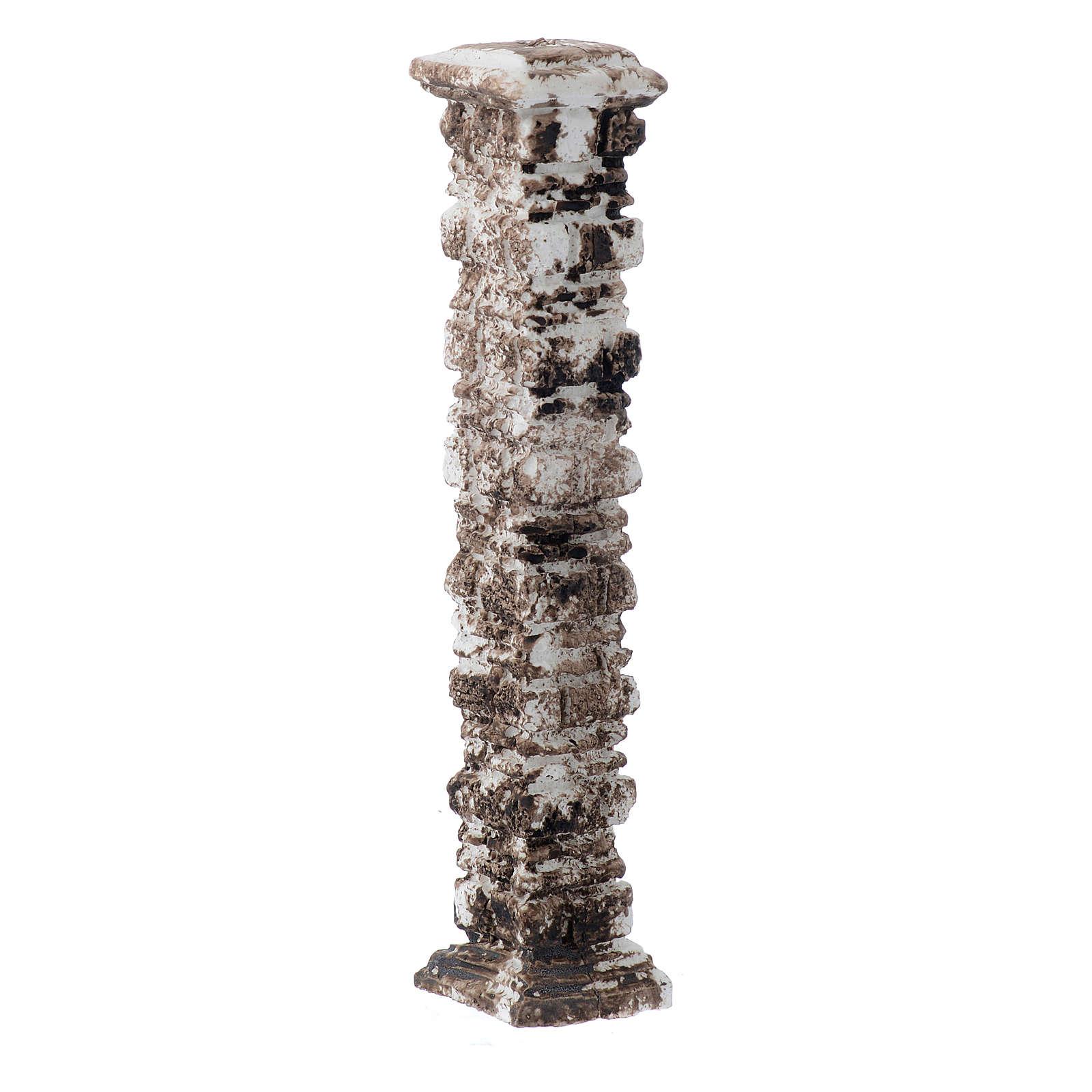 Columna piedras antigua de resina 15x5x5 cm 4