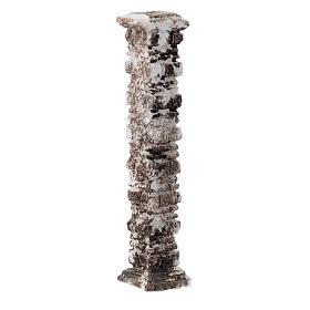 Columna piedras antigua de resina 15x5x5 cm s2