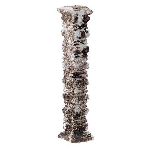 Columna piedras antigua de resina 15x5x5 cm 2