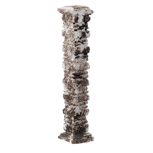 Resin column with ancient stones 15x5x5 cm 2