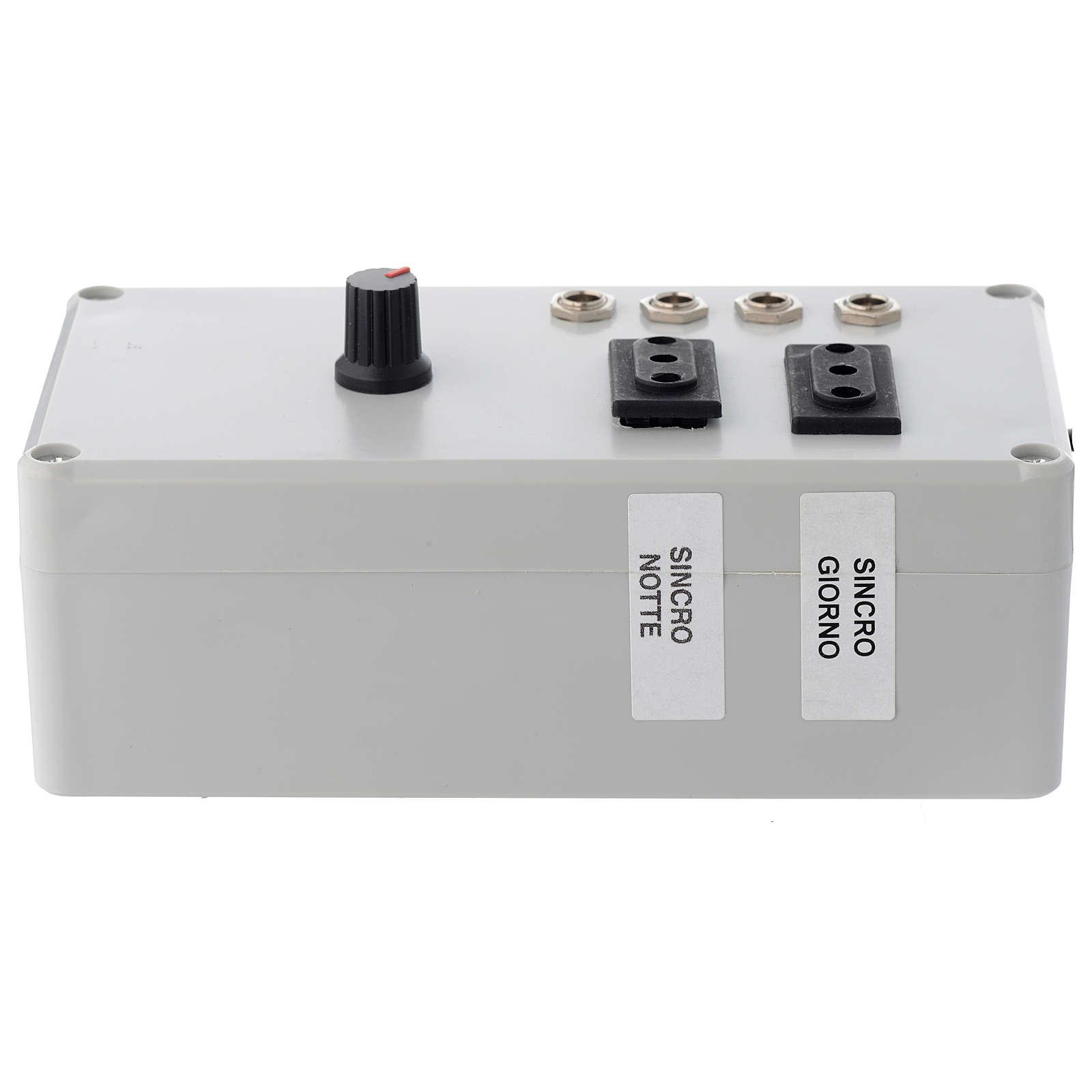 Electric box Mastro LED 4+2 da 24W and synchro plug 220 V 4