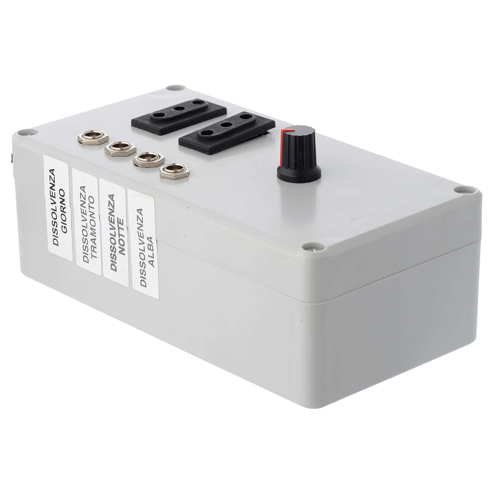 Centralina Mastro LED 4+2 da 24W e presa sincro 220V 4