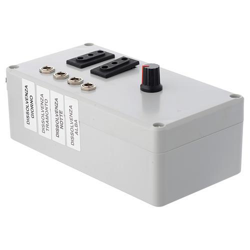 Centralina Mastro LED 4+2 da 24W e presa sincro 220V 3
