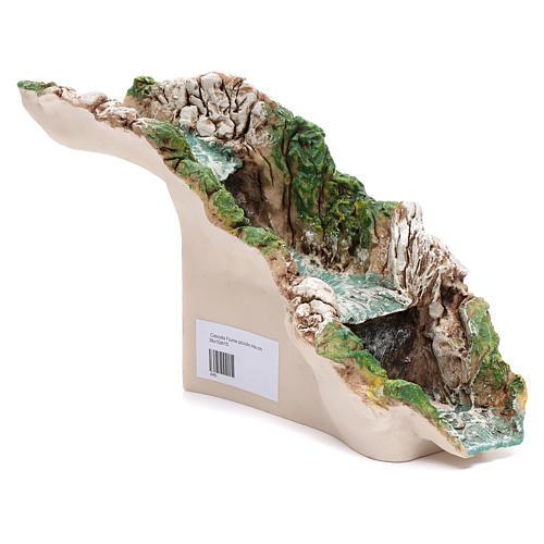Cascata fiume resina 35x10xh.15 cm 2