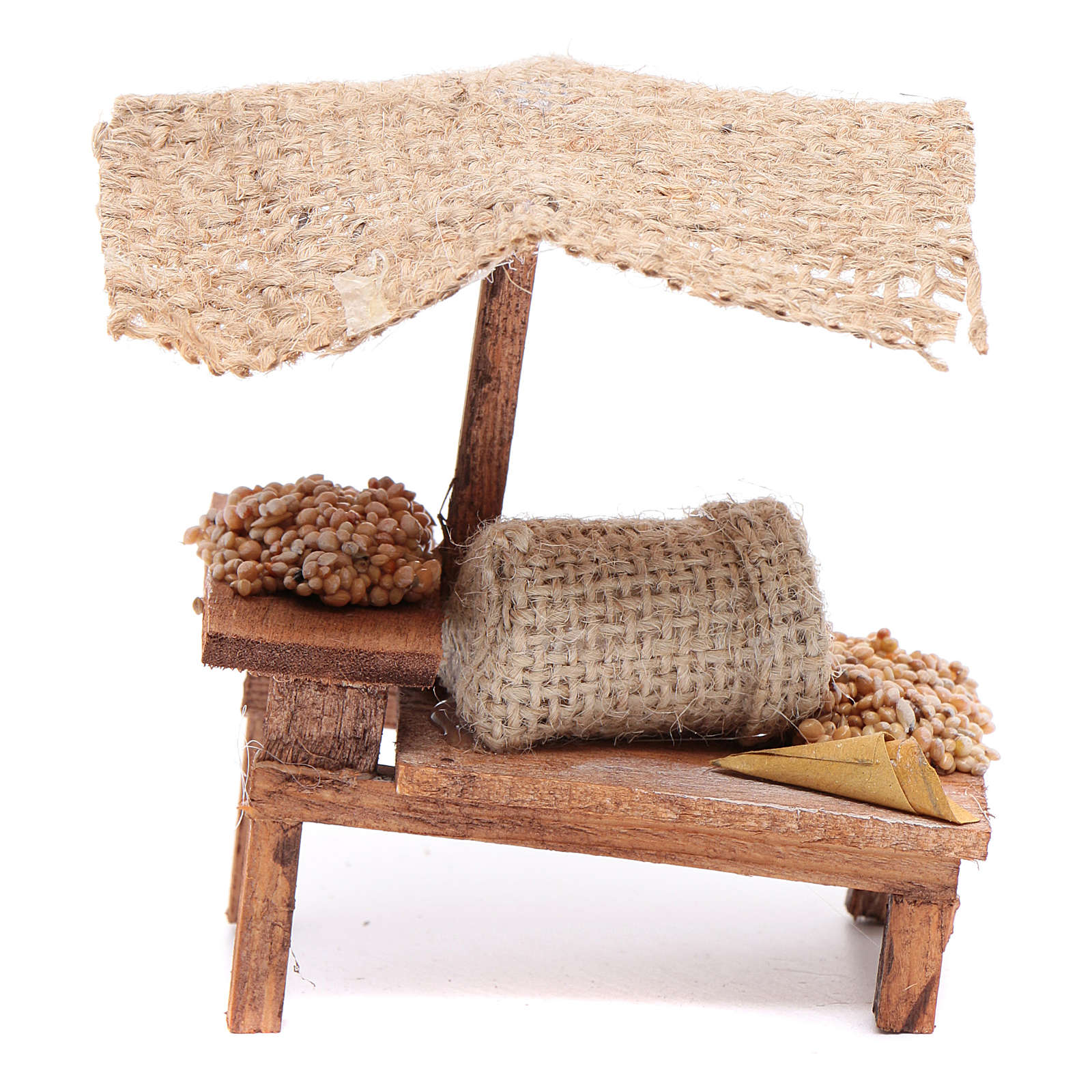 Stall with wheat for DIY nativities 4