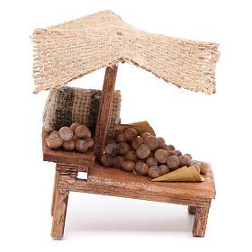 Comida em Miniatura para Presépio: Banca batatas 10x10x5 cm