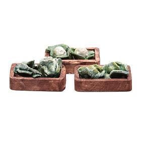 Comida em Miniatura para Presépio: Caixa alface para bricolagem presépio 3 peças