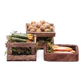 Comida em Miniatura para Presépio: Caixas hortaliças 10x10x5 cm