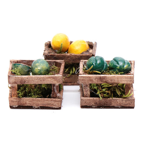 Boxes with melons and watermelons set of 3 pieces 1