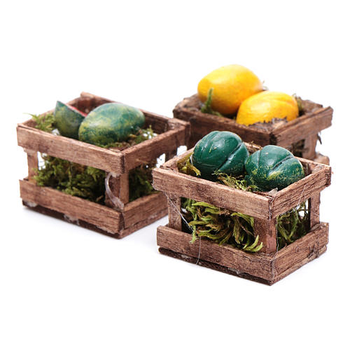 Boxes with melons and watermelons set of 3 pieces 2