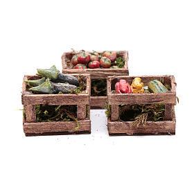 Comida em Miniatura para Presépio: Caixas legumes 10x10x5 cm