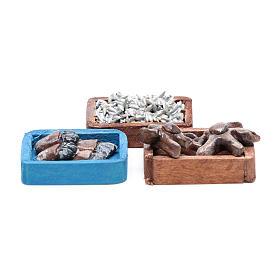 Comida em Miniatura para Presépio: Caixas peixe para bricolagem presépio 3 peças