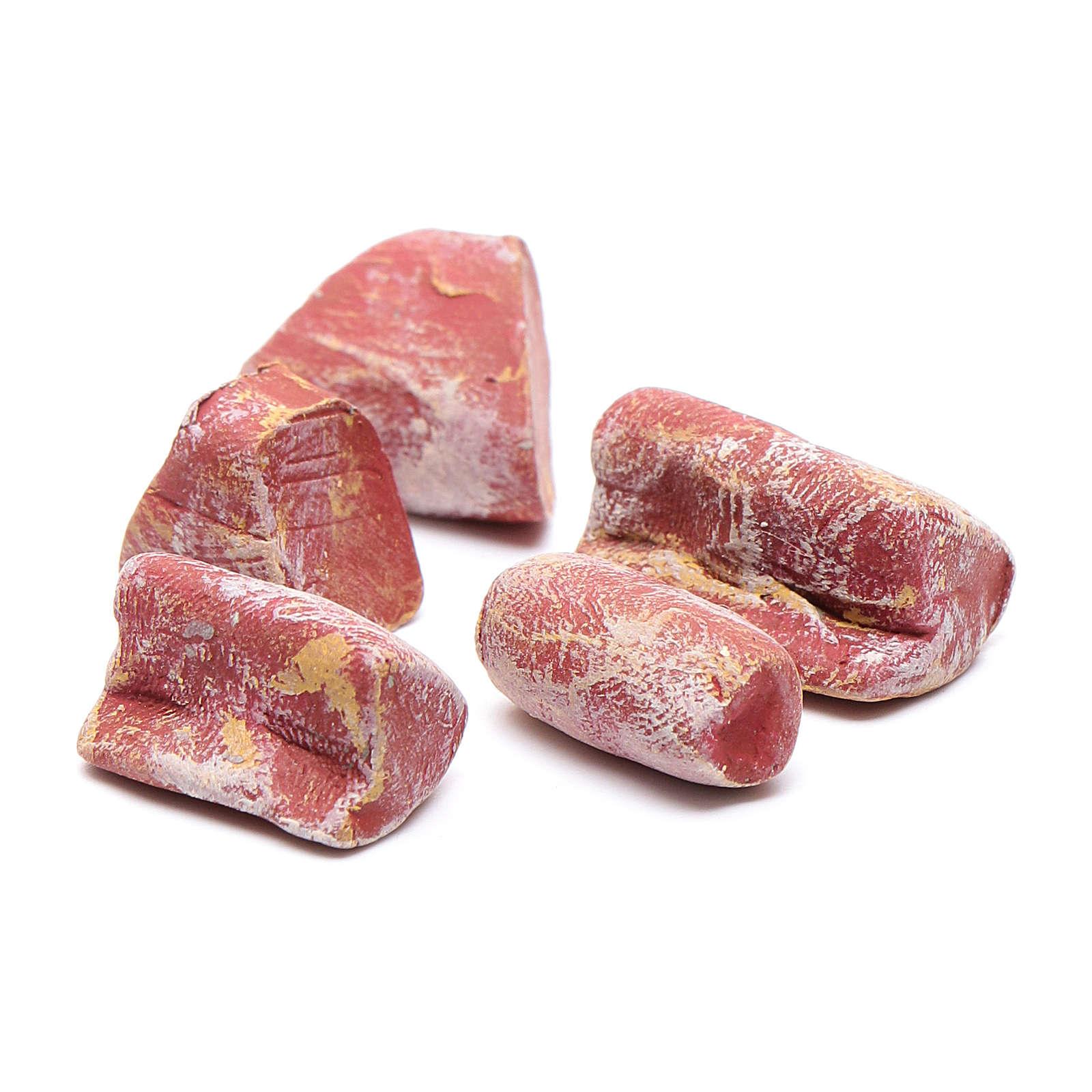 Viande pour bricolage crèche 5 pcs 4
