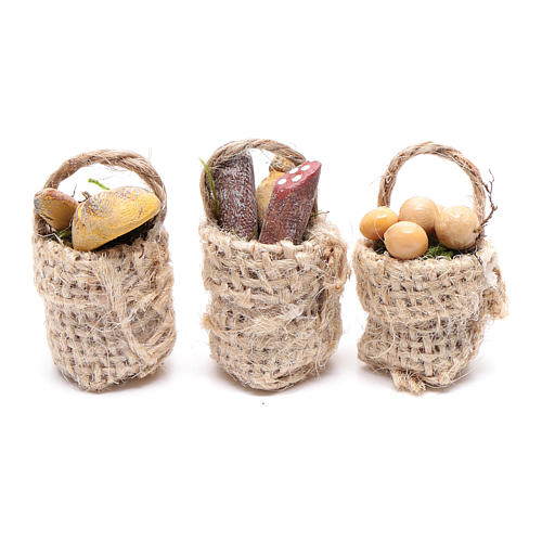 Eggs and sausage baskets 3 pieces 1