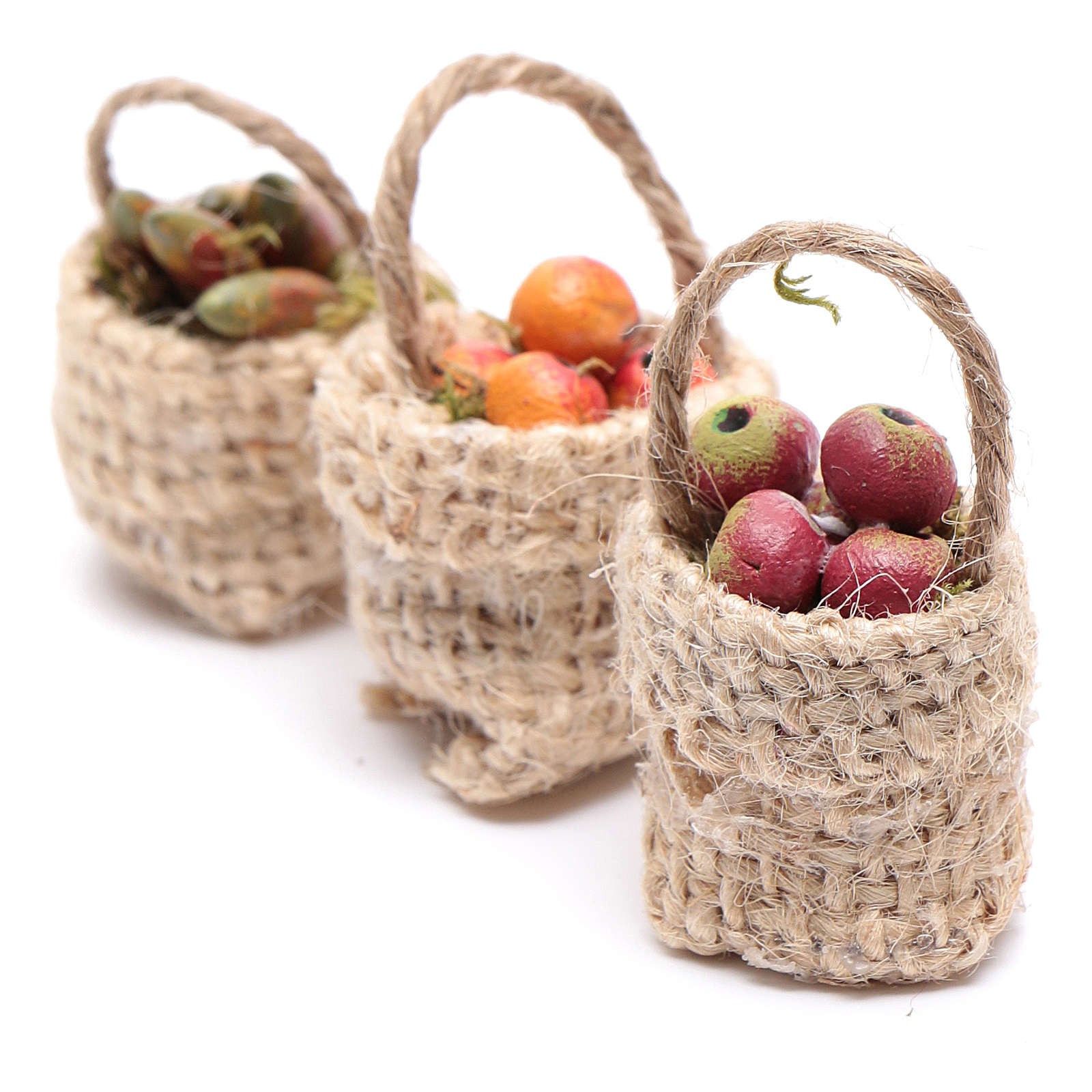Cesti frutta 3pz. presepe 4