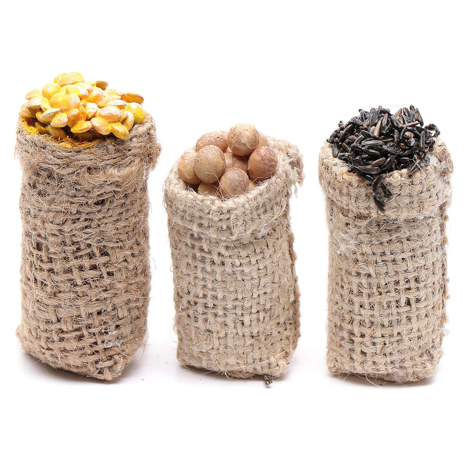 Säcke mit Knollengemüse Set zu 3 Stück für DIY-Krippe 4