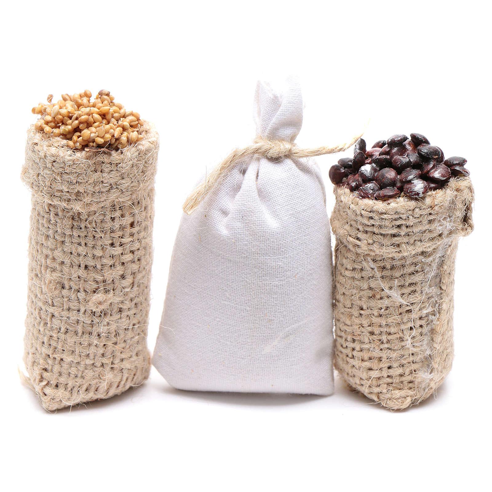 Sacchi castagne e farina 3 pz. presepe 4